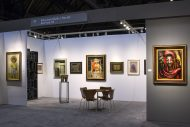 Installation shot of the gallery's booth at The Art Show 2017
