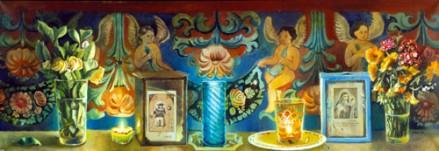 Friso con angeles en Teotitlán