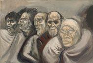 José Clemente Orozco, Five Heads (Beggars), c. 1940