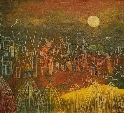 Alice Rahon, Village Abandoned to the Ghosts, 1948