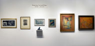 Installation shot of the back wall of the gallery's booth at The Art Show 2019