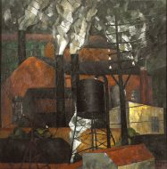 Rufino Tamayo, Rooftops, 1925