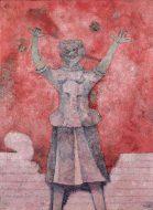 Rufino Tamayo, Sonriente en rosa, 1988
