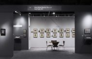 Installation shot of Mary-Anne Martin Fine Art's booth at the Art Show 2018, featuring artists' sketchbooks