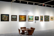 Installation shot of the the gallery's booth at The Art Show 2020