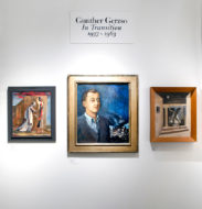 Installation shot of the the gallery's booth at The Art Show 202