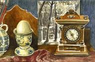 Shelf with Antique Clock