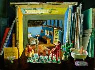 Scene with Books and Luminous Photo