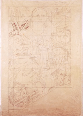 Study for Allegory of California, San Francisco Stock Exchange