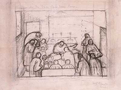 Clinic of Dr. Jean Louis Faure (Study for La Operación)