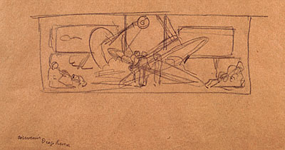 Sketch for 'Man at the Crossroads'