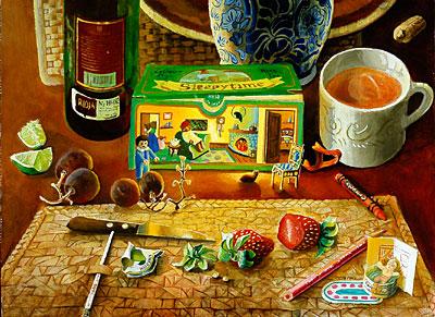 Dinner Scene with Tea Box