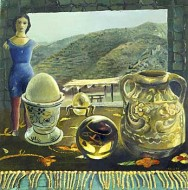 Table with Egg and Landscape of Coahuila