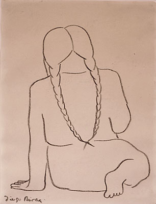 Study of a Peasant Girl with Braids