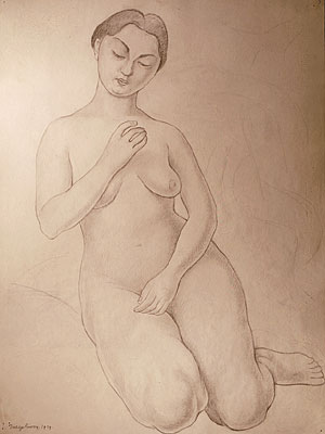 Preliminary Study for Figure of Knowledge for the Ministry of Health Mural (Cristina Kahlo)