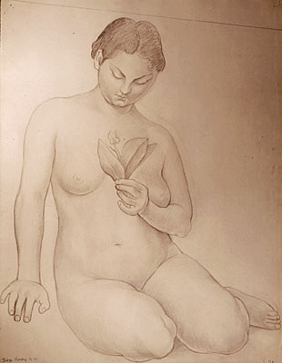 Study for Figure of Knowledge in the Ministry of Health Mural (Cristina Kahlo)