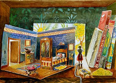 Paper Room In Bookshelf Mary Anne Martin Fine Art