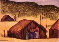 Peasant Family with Three Huts