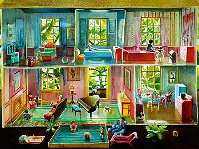 Tin Doll House Mary Anne Martin Fine Art