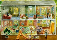 Tin Dollhouse with Slide