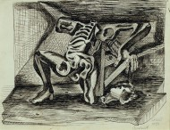 Untitled (Beheaded Figure-Skeleton)