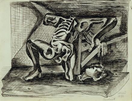 Untitled (Beheaded Figure-Skeleton)