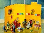 Wedding Scene With Cardboard House