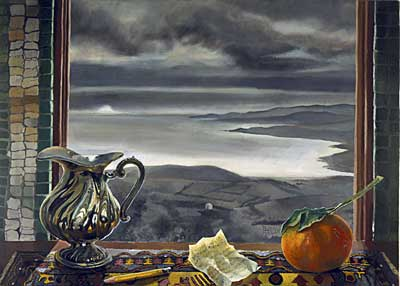 Window with View of France at Sunset (c. 1930)
